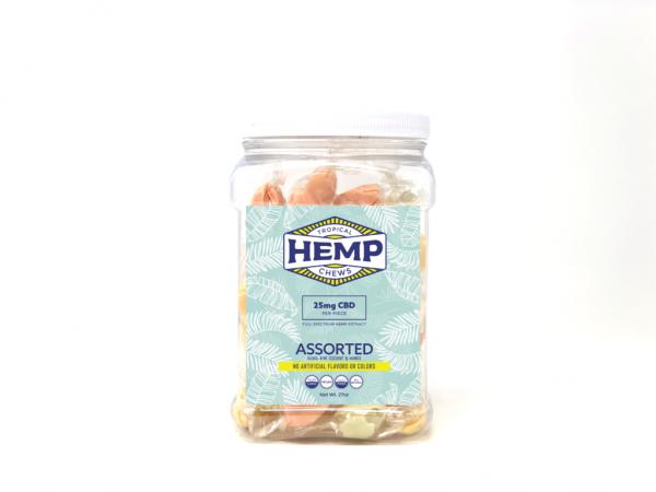 Tropical Hemp CBD Chews Assorted 100 count Tub