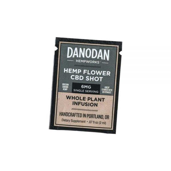 Danodan 6mg Single Serving Hemp Flower CBD Shot – Water Soluble