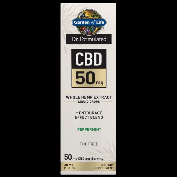 Garden of Life CBD 50mg Peppermint Tincture