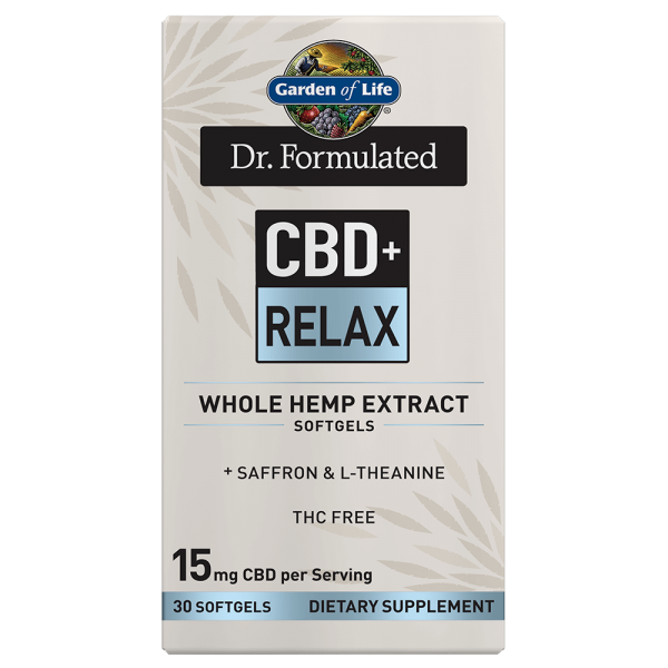 Garden of Life CBD+ Relax Softgels