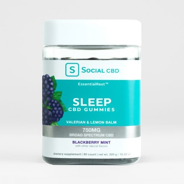 Social SLEEP | BLACKBERRY MINT CBD GUMMIES