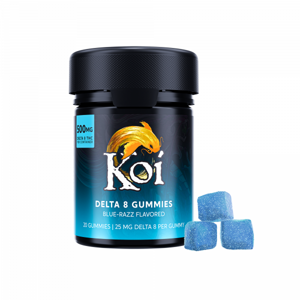KOI Delta 8 THC Gummies Blue Razz
