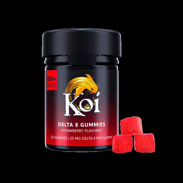 KOI Delta 8 THC Gummies Strawberry