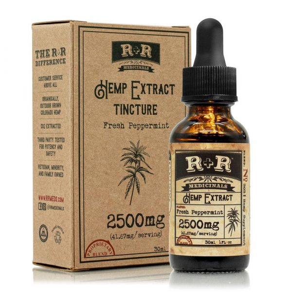 R and R Medicinals 2500mg Unflavored CBD Tincture
