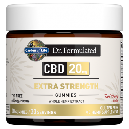 Garden of Life CBD Gummies 20mg Extra Strength Whole Hemp THC-Free