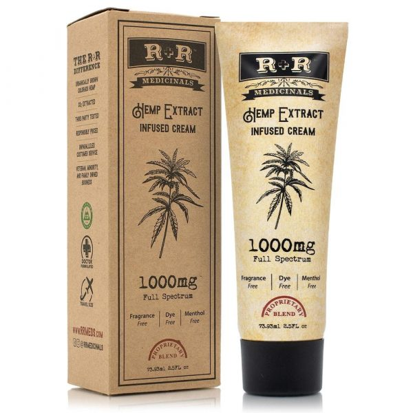R and R Medicinals Hemp Infused Cream 1000mg