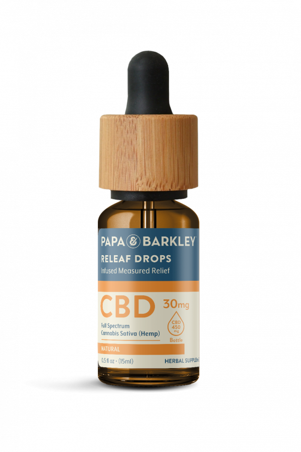 Papa and Barkley Releaf Drops Natural Flavor 15ML