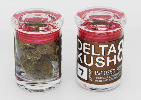"""Delta 8 THC Flower """"Kush"""" 7 gram jar"""