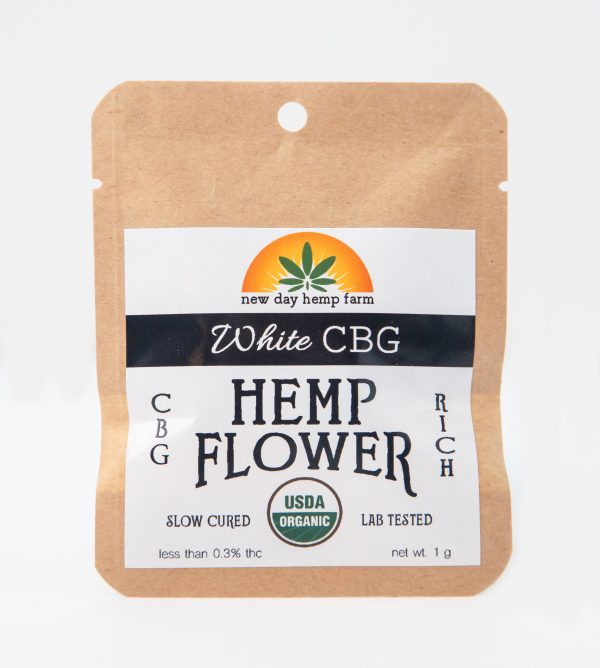 1 Gram New Day Hemp Farm White CBG Artisan CBD Flower