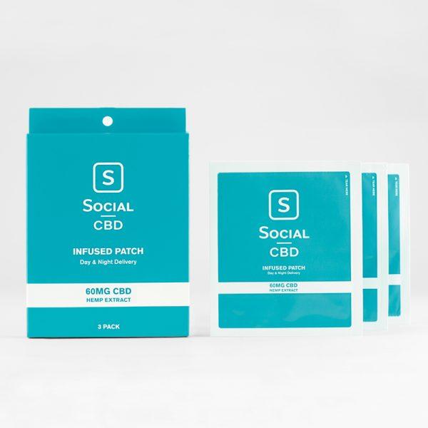 Social CBD Transdermal Patch 3-pack 60mg