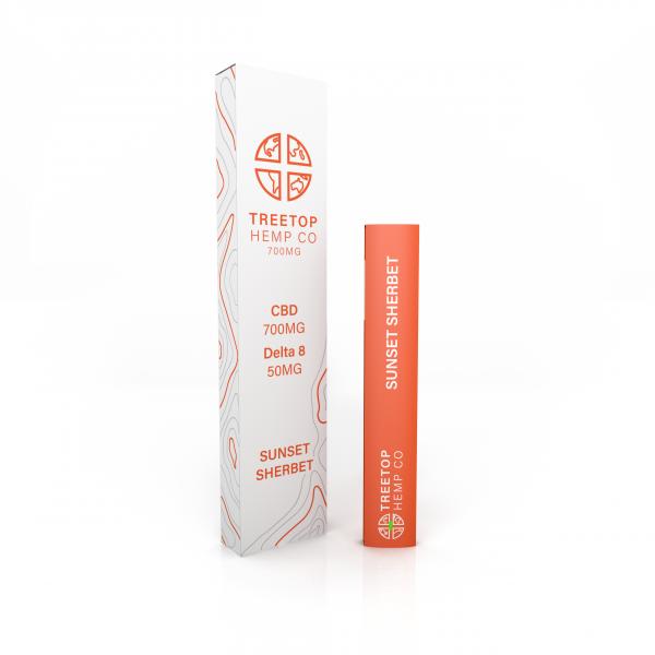 Treetop Hemp Sunset Sherbert CBD + Delta 8 THC Disposable Vape Pen
