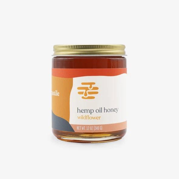 Apis Mercantile Wildflower CBD Hemp Honey 500mg 12oz.