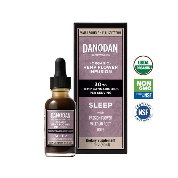 Danodan Sleep – Organic Water Soluble CBD Tincture