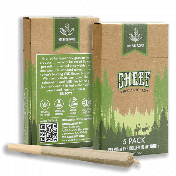 CHEEF Botanicals CBD Pre-Rolls – Northern Lights (5-Pack)