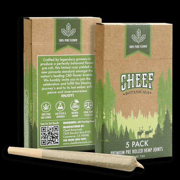 CHEEF Botanicals - CBD Pre Rolls Wagyu Kush (5-Pack)