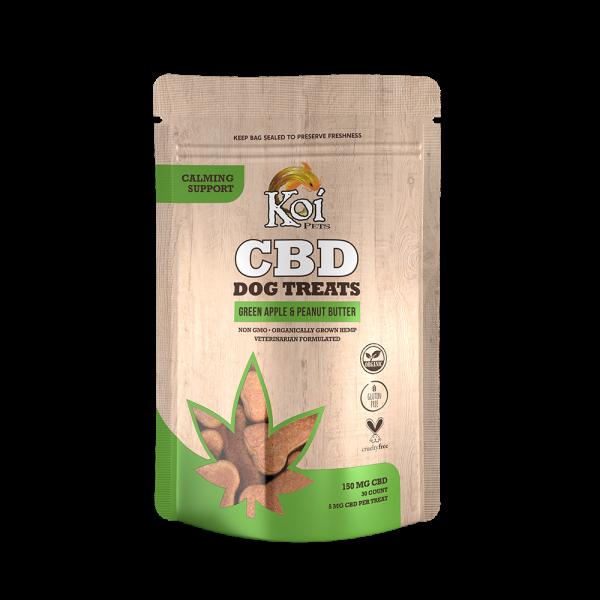 Koi CBD Dog Treats   Calming Support – Green Apple & Peanut Butter