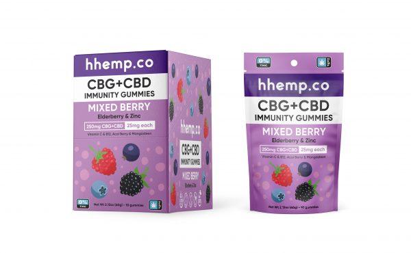 H Hemp Co. CBG+CBD Immunity Gummies