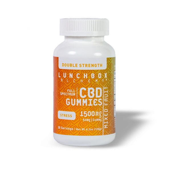 Lunchbox Alchemy Stress 1500mg Full Spectrum Gummies
