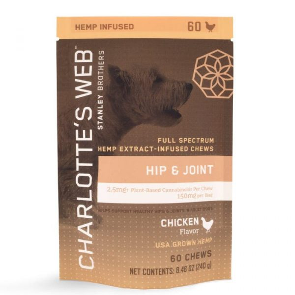 Charlotte's Web Hip and Joint Chews for Dogs 60ct