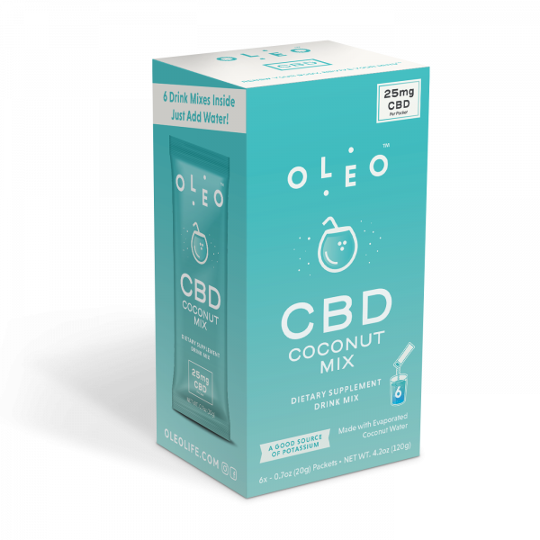 OIeo Coconut CBD Drink Mix--Multipack Box (6 packets)