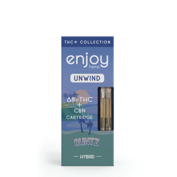Enjoy Hemp Delta 8 THC + CBN Vape Cartridge for UNWIND - Runtz (Indica MAX)