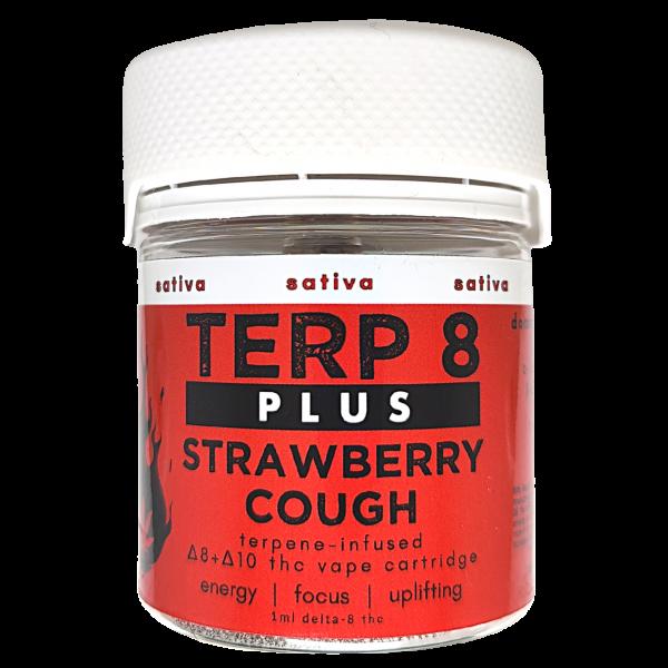 Terp 8 PLUS // Strawberry Cough Delta-8 + Delta-10 THC Vape Cartridge