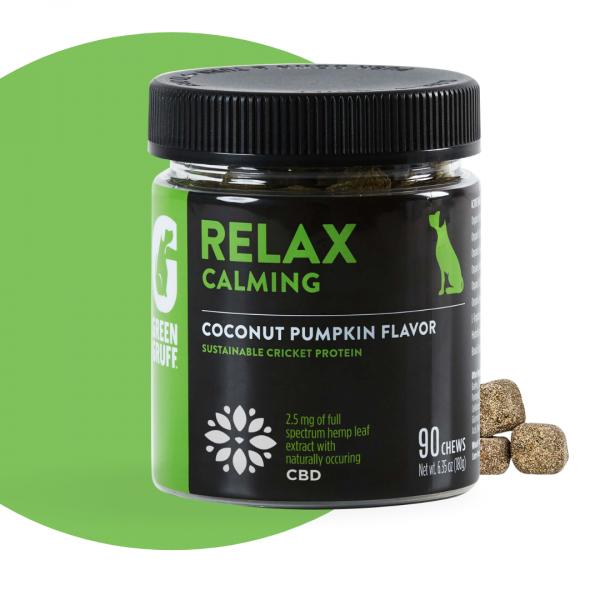 Green Gruff CBD RELAX Calming Plus - Jar   90 Chews