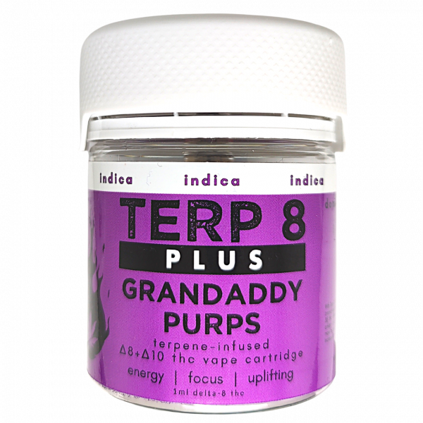 Terp 8 PLUS // Grandaddy Purps Delta-8 + Delta-10 THC Vape Cartridge
