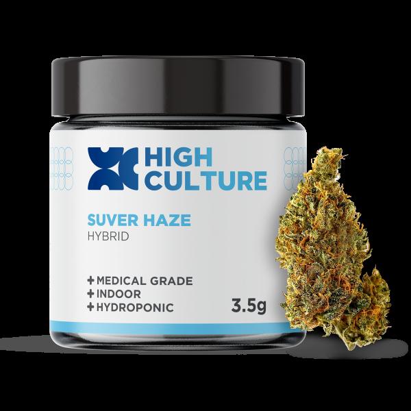 High Culture Suver Haze Indoor Hydroponic Hemp Flower - 3.5 Gram Jar