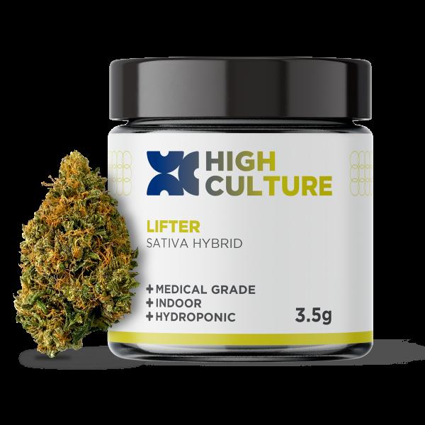 High Culture Lifter Indoor Hydroponic Hemp Flower - 3.5 Gram Jar