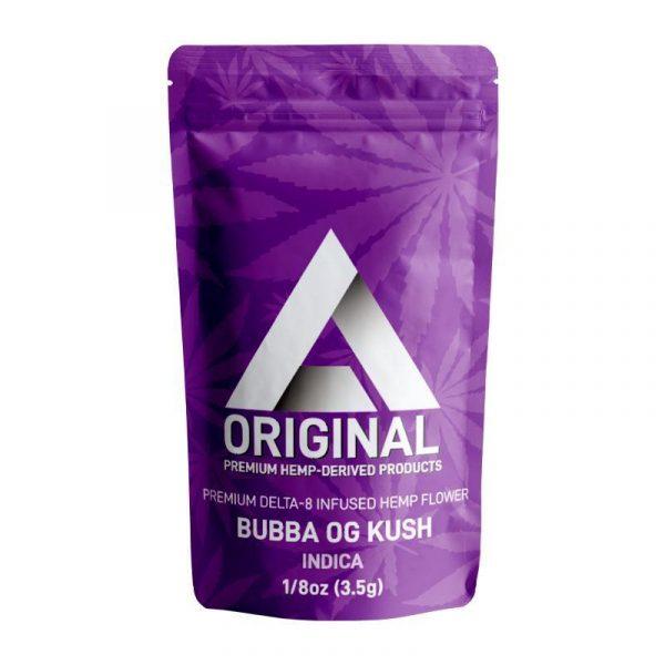 DELTA EXTRAX 3.5 GRAMS BUBBA OG KUSH PREMIUM DELTA 8 THC INFUSED HEMP FLOWER
